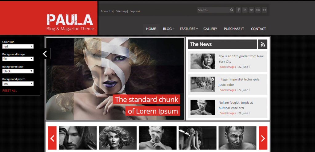 Paula Blog & Magazine Joomla Theme