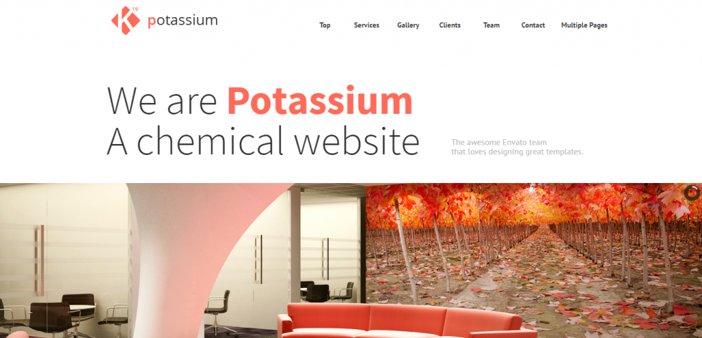 Potassium Joomla One Page Template