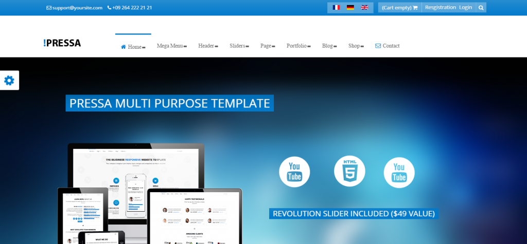 Pressa Multi Purpose Joomla Website Template