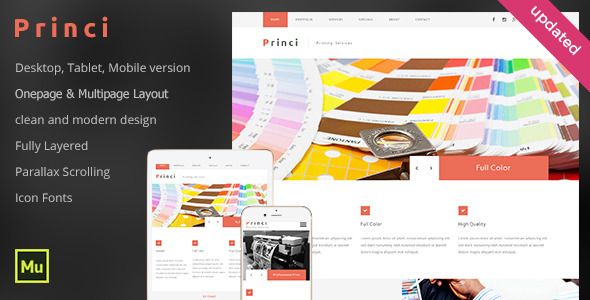 Princi Printing Services Web Template