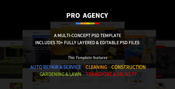 Pro Agency Multipurpose PSD Template