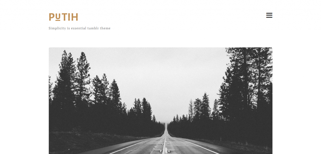 Putih Clean Personal Tumblr Theme
