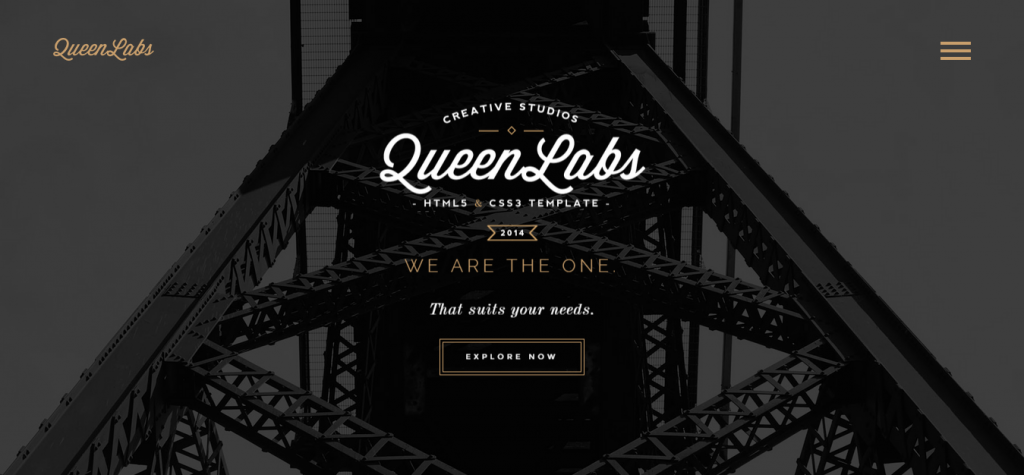 Queen One Page Parallax Responsive Template