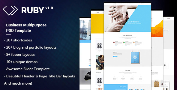 RUBY Business Multipurpose PSD Template