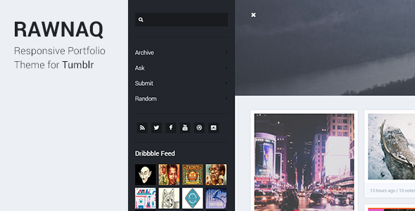 Rawnaq Responsive Portfolio Theme For Tumblr