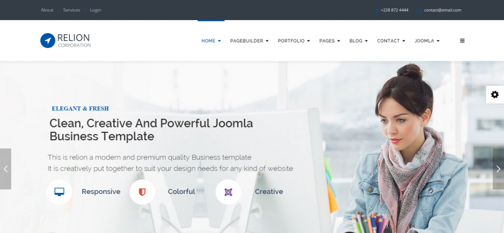 Relion Multi-Purpose Joomla! Template
