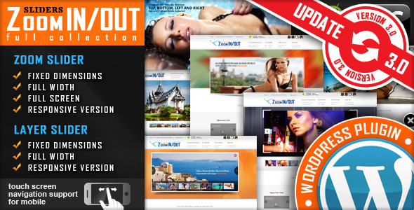Responsive Zoom In Out Slider WordPress Plugin