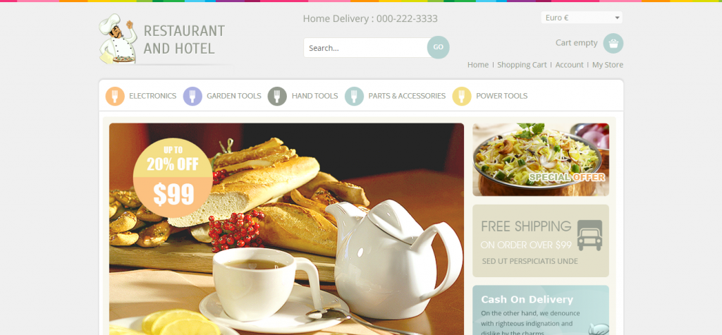 Restaurant VirtueMart Responsive Template
