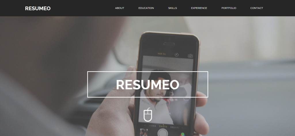 Resumeo One Page Resume Template