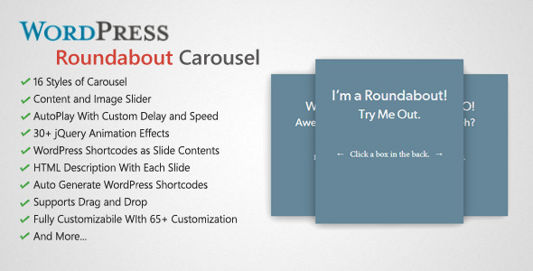 Roundabout WordPress Carousel Slider Plugin