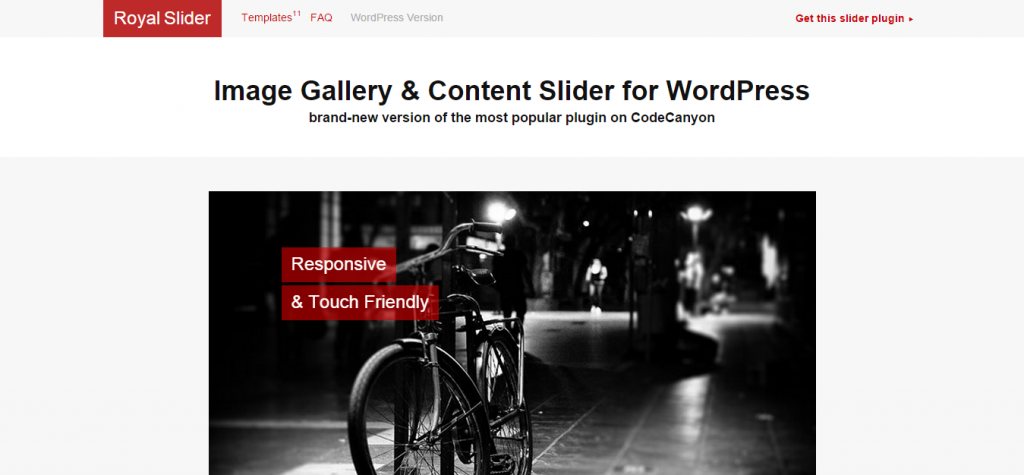 RoyalSlider Touch Content Slider for WordPress