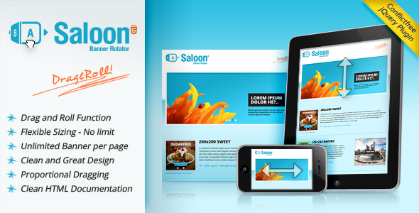 Saloon The jQuery Banner Rotator Plugin