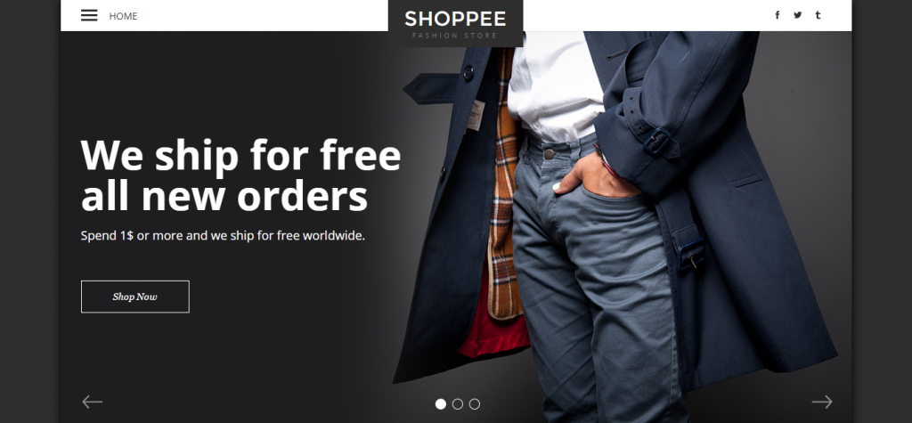 Shoppee Stylish eCommerce Muse Template