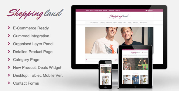 Shoppingland eCommerce Muse Template