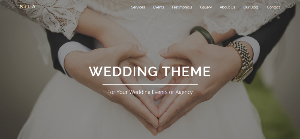 Sila Wedding Agency Page Template