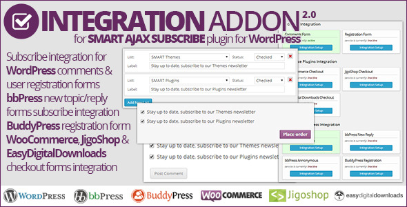Smart AJAX Subscribe Integration Addon