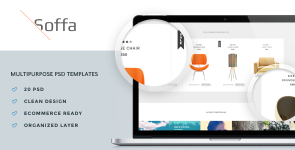 Soffa Multipurpose PSD Templates