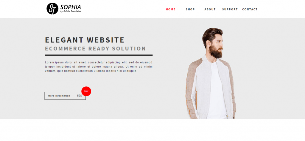 Sophia Clean & Responsive Muse Ecommerce