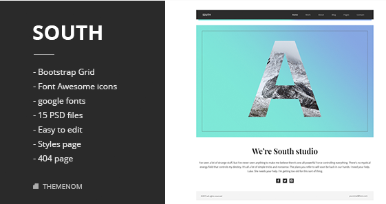 South Creative PSD Template