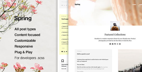 Spring Content Focus Tumblr Theme