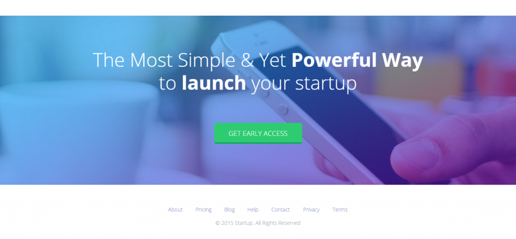 Startupkit Responsive Parallax Muse Template