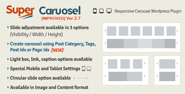 Super Carousel Responsive WordPress Plugin