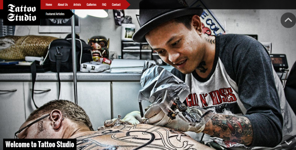 Tattoo Studio Responsive Joomla Template