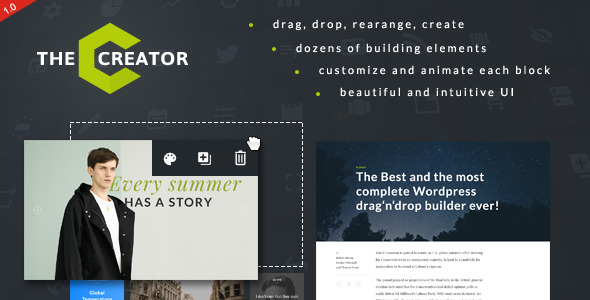 The Creator Visual Page Builder for WordPress