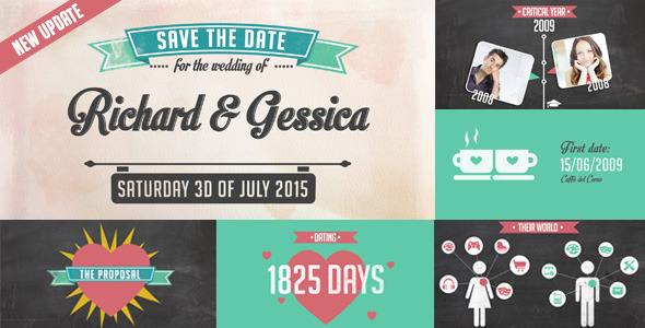 The Story of Us Wedding Invitation