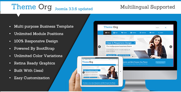 Theme-Org Responsive Multi-Purpose Joomla Theme