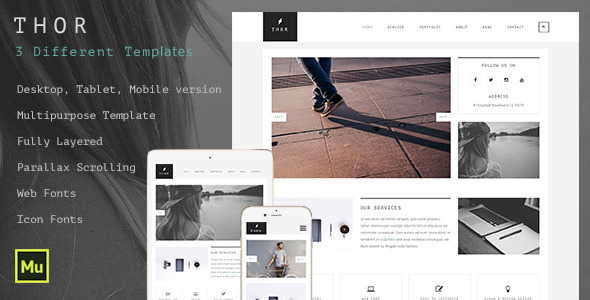 Thor Creative Multipurpose Muse Template