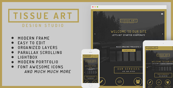 Tissue One&Multi Page Modern Muse Theme