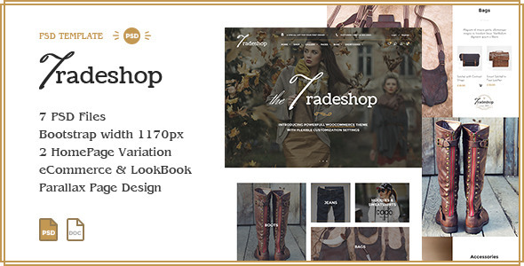 TradeShop eCommerce PSD Template Design