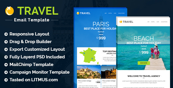 Travel Hotel E-newsletter + Builder Access