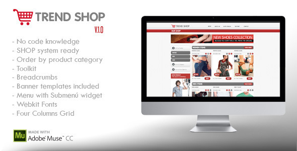 Trend Shop Muse E-Commerce Shop Ready