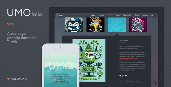 UMO Folio A One Page Portfolio Theme For Tumblr