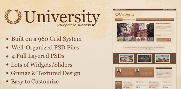 University Education Media Centric Template