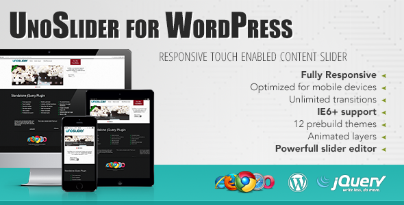 UnoSlider for WP Responsive Touch Enabled Slider