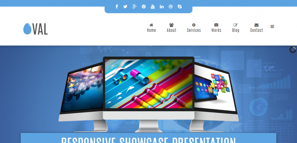 Vina Oval Responsive Joomla 3 One Page Template