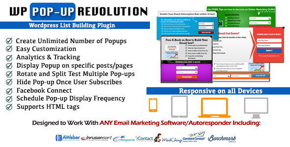 WP PopUp Revolution WordPress List Building Plugin