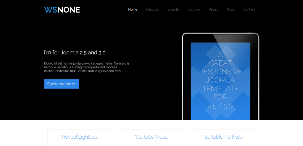WS-None Responsive & Clean Joomla Template