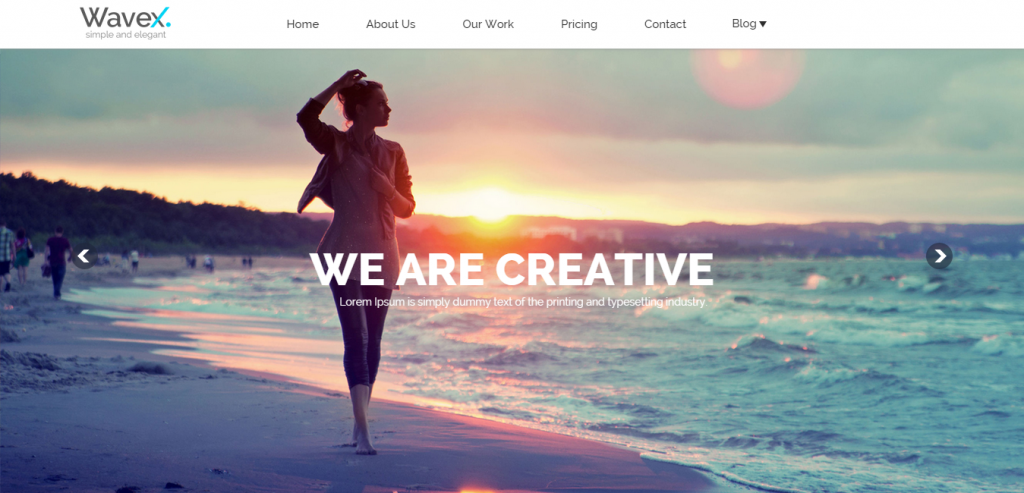 WaveX One Page Parallax