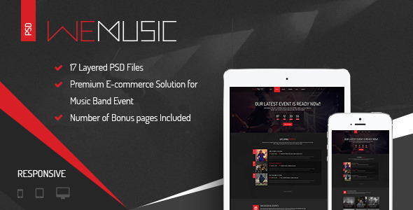 WeMusic Music Band Event PSD Template