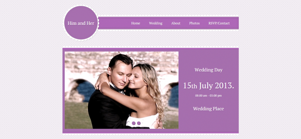 Wedding HTML5 High Resolution Facebook Template