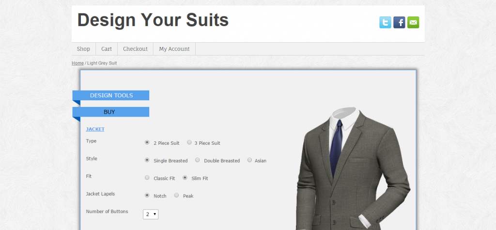 WooCommerce Tailored Suit Online
