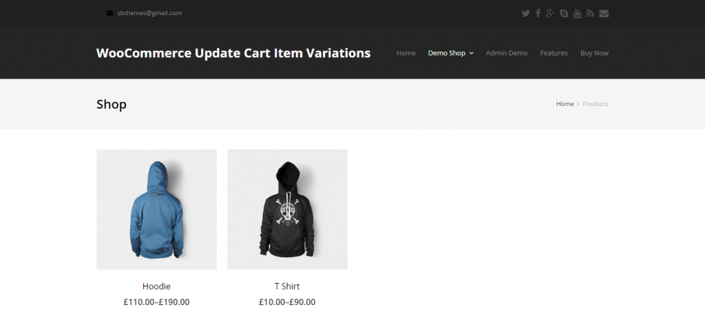 WooCommerce Update Cart Item Variations