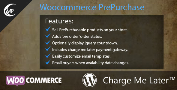 Woocommerce PrePurchase