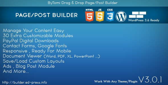WordPress Drag & Drop Page Post Builder
