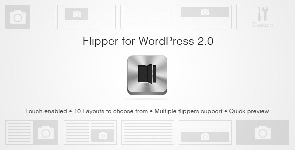 WordPress Flipper 2.0 Flipbook style slider!