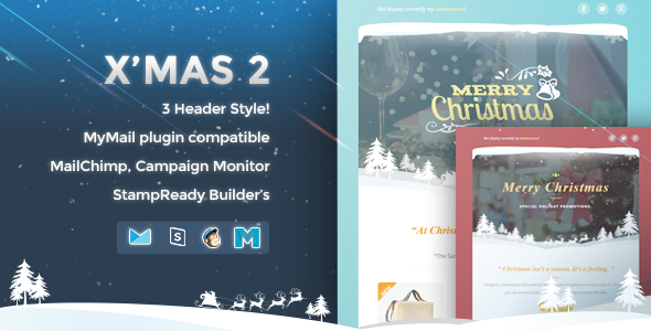 X'mas 2 Responsive Email Template